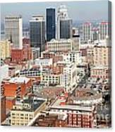 Downtown Skyline Of Louisville Kentucky Canvas Print