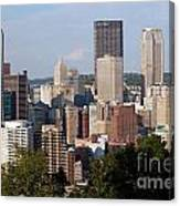 Downtown Skyline Of Pittsburgh Pennsylvania Canvas Print