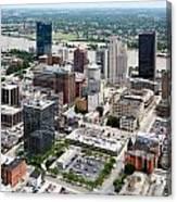 Downtown Skyline Of Toledo Ohio Canvas Print