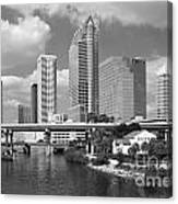 Downtown Tampa Skyline From Davis Islands Canvas Print