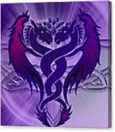 Dragon Duel Series 4 Canvas Print
