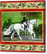 Dressage Horse Christmas Card Canvas Print
