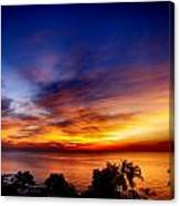 Dry Season-sunset Canvas Print