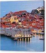 Dubrovnik City Skyline At Dawn Canvas Print