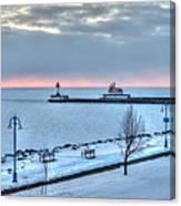Duluth Winter Sunrise  Canvas Print