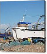 Dungeness Fishing Boats Canvas Print