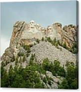 Dusk At Mount Rushmore Canvas Print