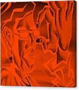 E Vincent Orange Canvas Print