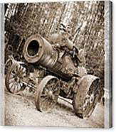 Early 1900's Steam Engine Farm Tractor Canvas Print