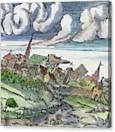 Earthquake, 1550 Canvas Print