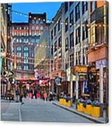 East Fourth Street In Cleveland Canvas Print