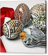 Easter Eggs Do With Birds Canvas Print