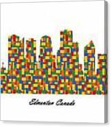 Edmonton Canada Building Blocks Skyline Canvas Print