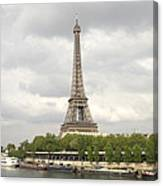 Eiffel Tower And The Seine Canvas Print