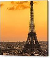 Eiffel Tower At Sunrise - Paris Canvas Print