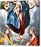 El Greco's Madonna And Child With Saint Martina And Saint Agnes Canvas Print
