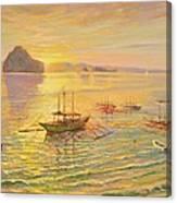El Nido Sunrise Canvas Print