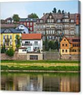 Elbe River Town Canvas Print