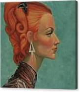 Elegant Neck Canvas Print