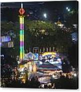 Elevated View Of The 2011 San Mateo County Fair Canvas Print