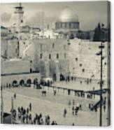 Elevated View Of The Western Wall Canvas Print