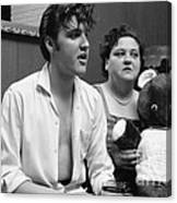 Elvis Presley and his mother Gladys 1956 Canvas Print