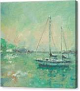 Emerald Sunrise Canvas Print