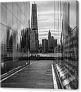 Empty Sky Memorial And The Freedom Tower Canvas Print