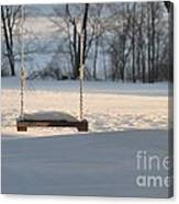 Empty Swing Canvas Print