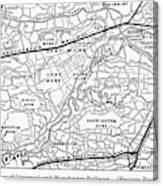 England Railroad Map Canvas Print