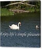 Enjoy Lifes Simple Pleasures Canvas Print