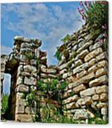 Entry To Saint John's Basilica Grounds In Selcuk-turkey Canvas Print