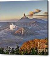 eruption at Gunung Bromo Canvas Print