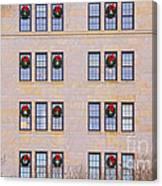 Evergreen Christmas Wreaths Canvas Print