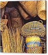 Exotic Baskets Canvas Print