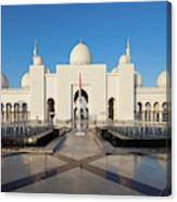 Exterior View Of Sheikh Zayed Grand Canvas Print