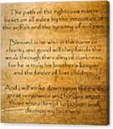 Ezekial 25 17 Canvas Print
