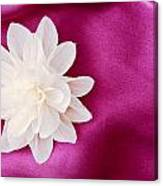 Fabric Flower Canvas Print