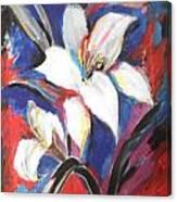Fair Pure Fragile White Lilies Canvas Print