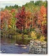 Fall At The River Canvas Print