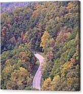 Fall Drive In The Smokies Canvas Print