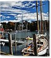 Fall In The Harbor Canvas Print