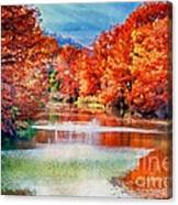 Fall On The Guadalupe Wc Canvas Print