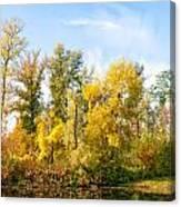 Fall On The Lake Canvas Print