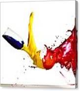 Falling Glasses Of Paint Canvas Print