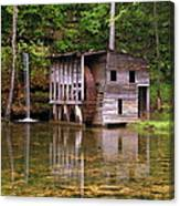 Falling Spring Mill  Canvas Print