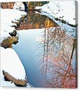 Falls Park In Snow Canvas Print