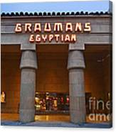 Famous Egyptian Theater In Hollywood California. Canvas Print