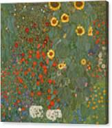 Farm Garden With Sunflowers Canvas Print