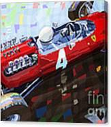 1965 British Grand Prix Silverstone  Lorenzo Bandini Ferrari 158 Canvas Print